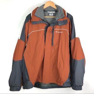COLUMBIA Interchange Jacket Large Orange o906